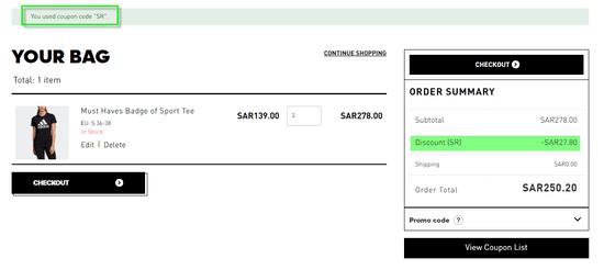 Adidas Discount Code