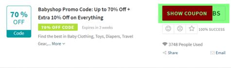Babyshop Code