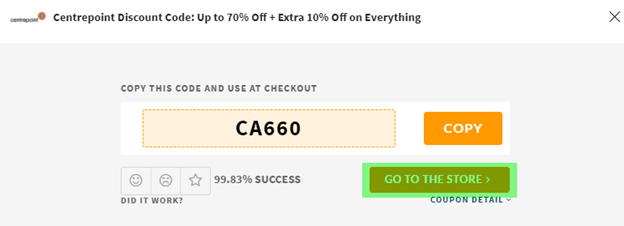 Centrepoint Coupon