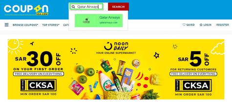 CouponKSA.com Qatar Airways