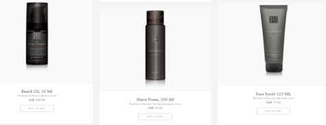 Ritual's Skincare products